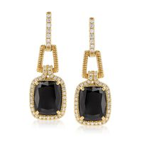 "Judith Ripka ""Arianna"" Black Onyx and .45 ct. t.w. Diamond.."