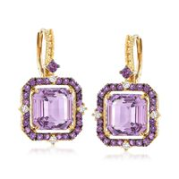 "Judith Ripka ""Lila"" 7.25 ct. t.w. Amethyst and .14 ct. t.w.."