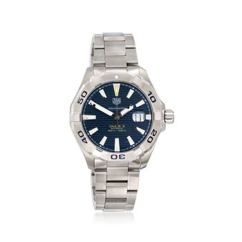 06db0ff3349 TAG Heuer Aquaracer 43mm Men's Automatic Stainless Steel Watch With Blue  Dial