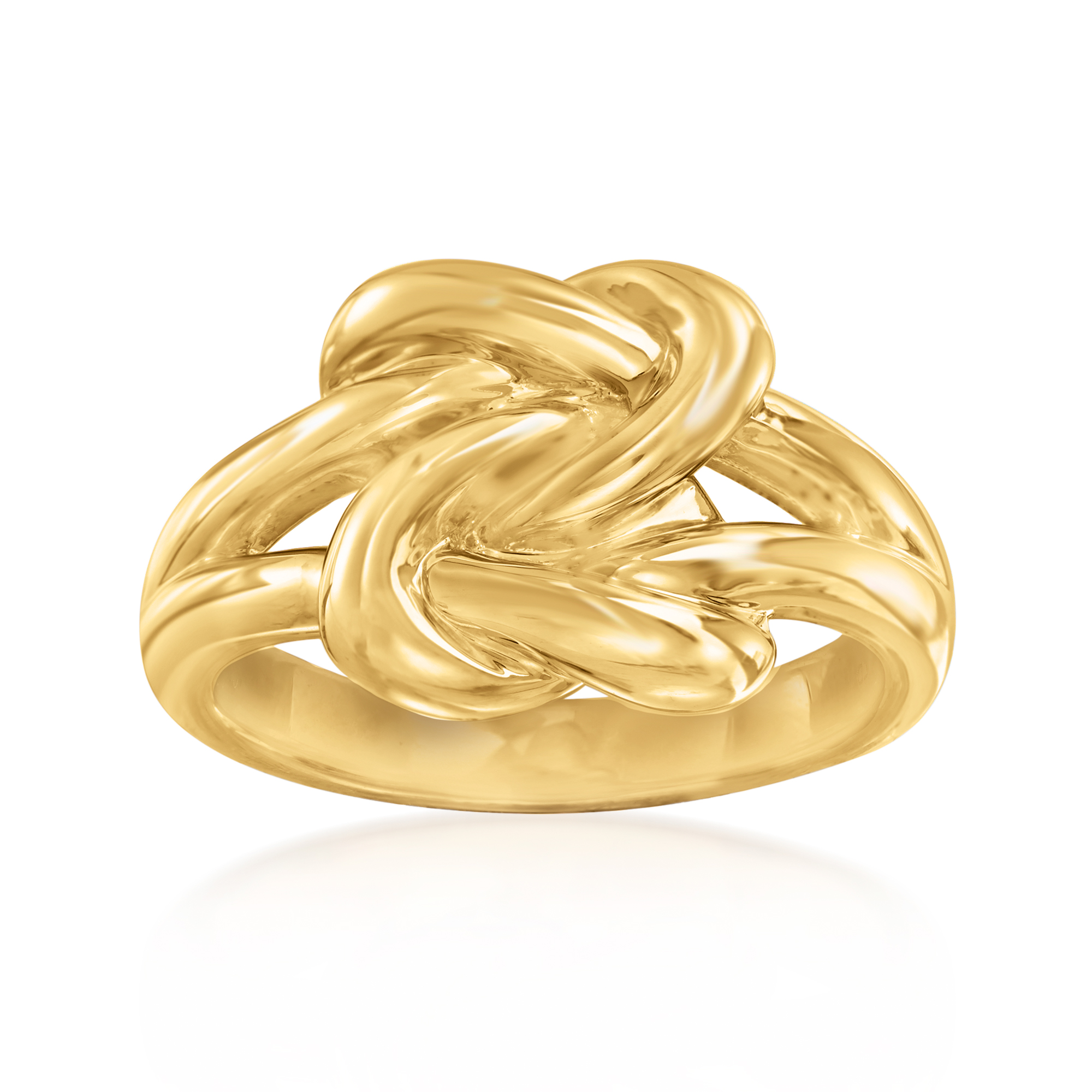 14kt Yellow Gold Double Love Knot Ring Ebay
